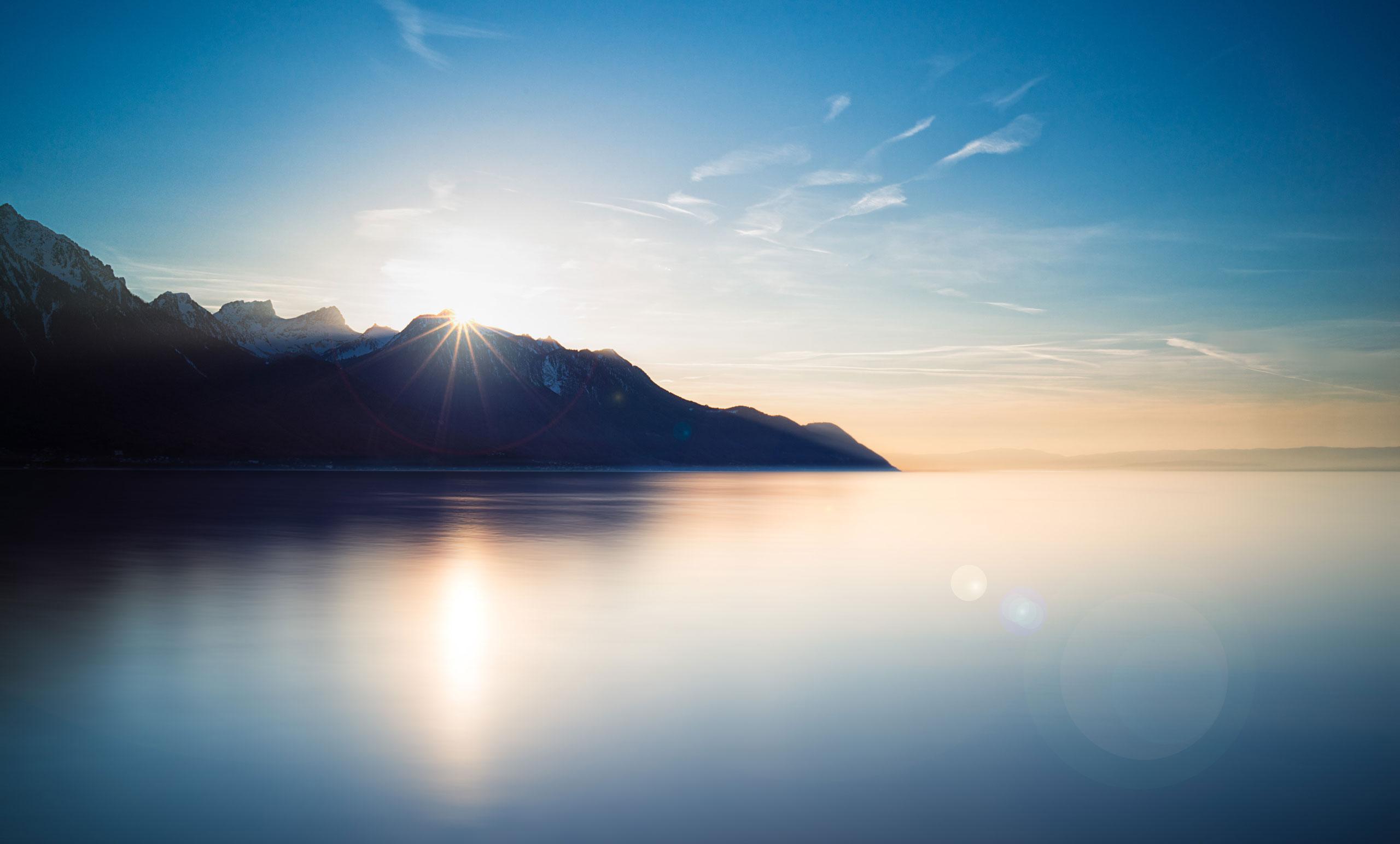Lac montagne Geneve